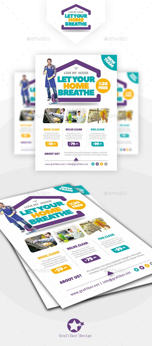 House Cleaning Flyer Design Templates - Corporate Flyers Template PSD, InDesign ...