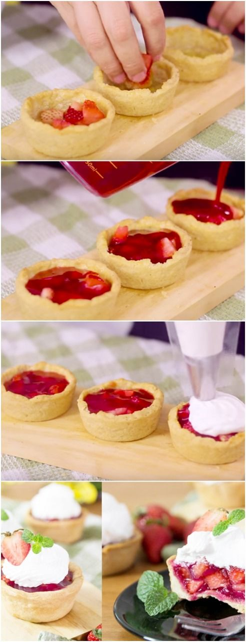 Tortinha Rápida de Morango, RECEITA BARATA E RAPIDA!, #tortademorango #morango #doce #doces #sobremesa #sobremesas