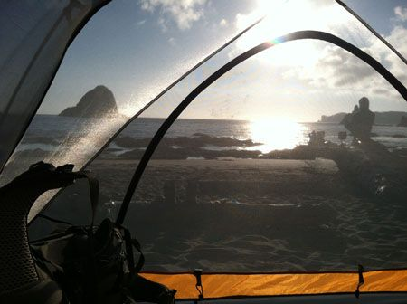 [view from our tent] Backpacking Along the Coast, Olympic National Park, Yellow Elm Blog