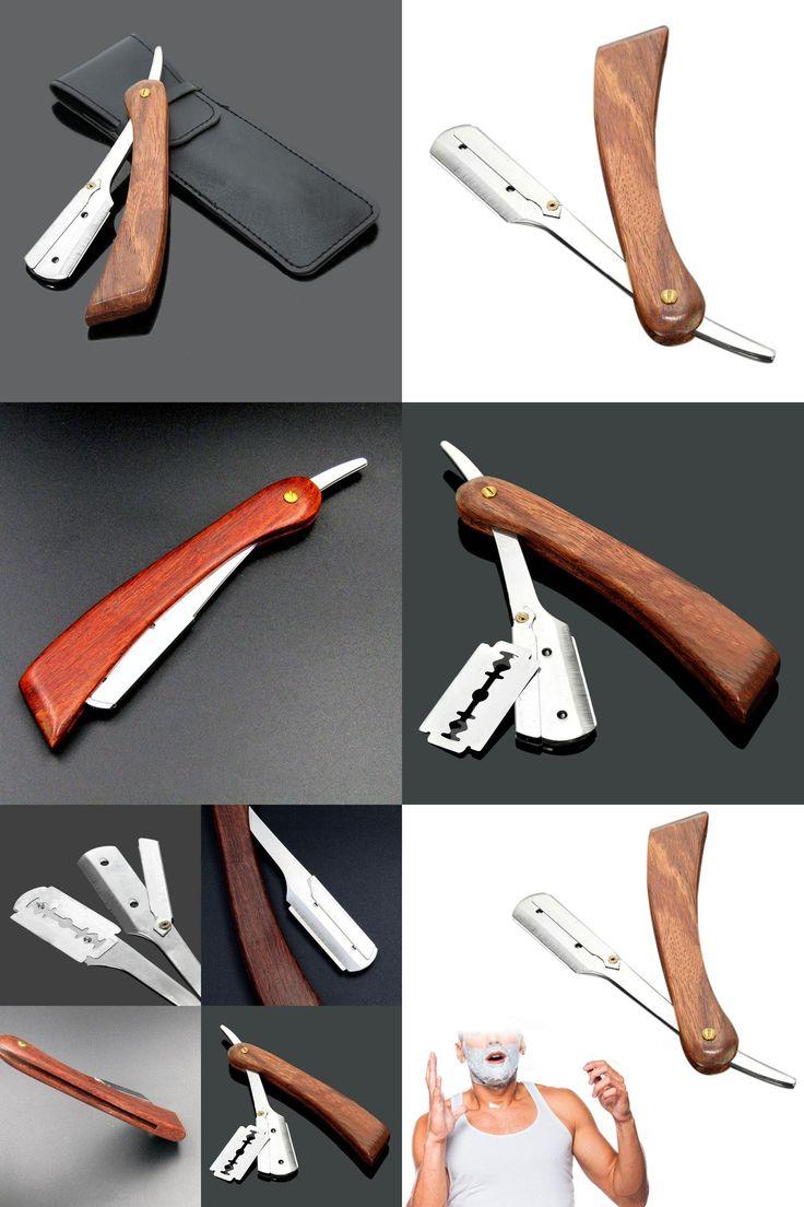 [Visit to Buy] Chic Straight Barber Edge Steel Razors Shaving Knife Folding Men Vintage Straight Edge Stainless Steel Hair Shaper Barber Razor #Advertisement