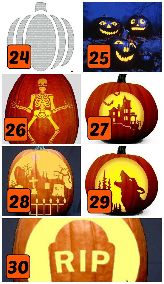15 Classic Halloween Themed Pumpkin Carving Stencils