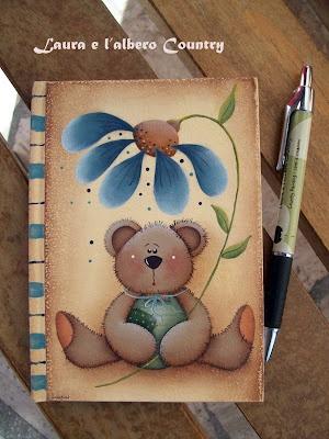 oso flor azul