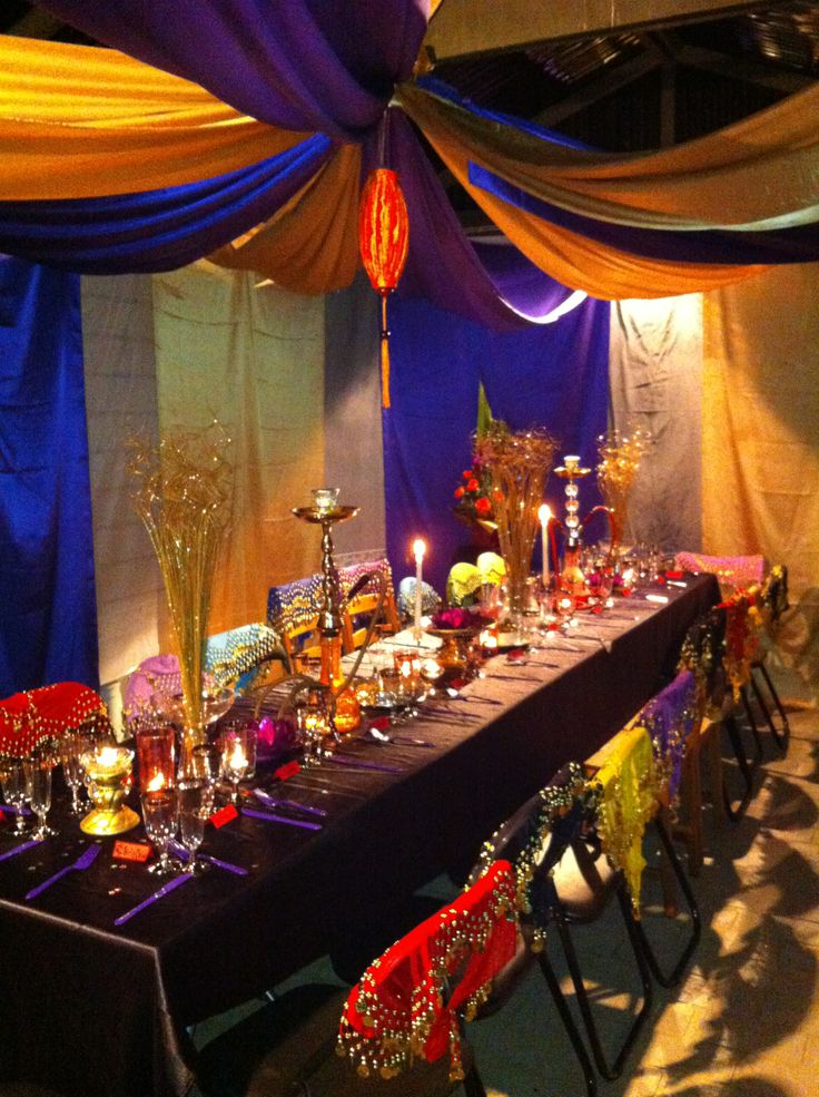 Moroccan Dinner Party Ideas Part - 34: Arabian Nights Themed Party - Table/not Floor Seating