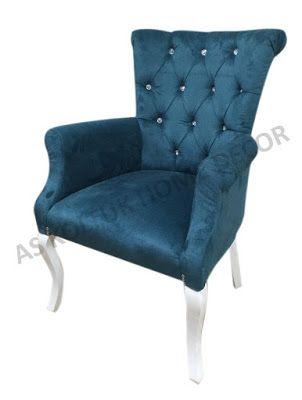AS Koltuk Home Decor: For Sale - Blue Classic Restaurant Armchair