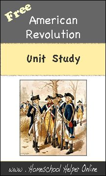 Homeschool Helper Online's American Revolution Unit Study -free lapbooks