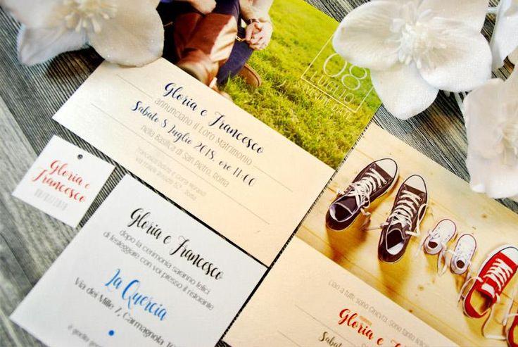 Partecipazione Fotografica, personalizzata con foto degli sposi