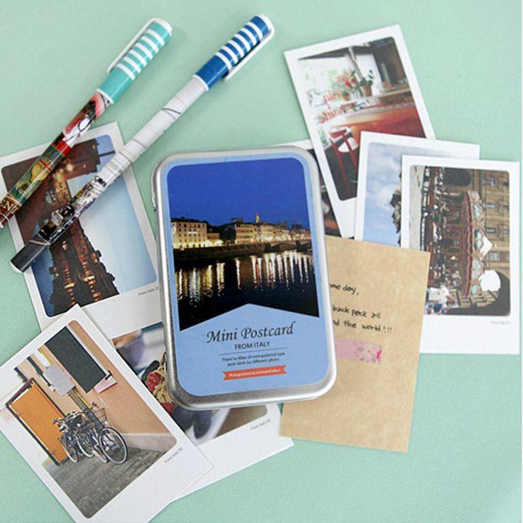 "Italy Instax Mini Photo Card 2.17"" x 3.35"" 40 Sheets per Tin Decorative Card"