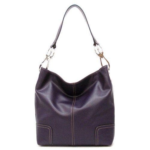 Tosca Classic Shoulder Handbag (Purple)