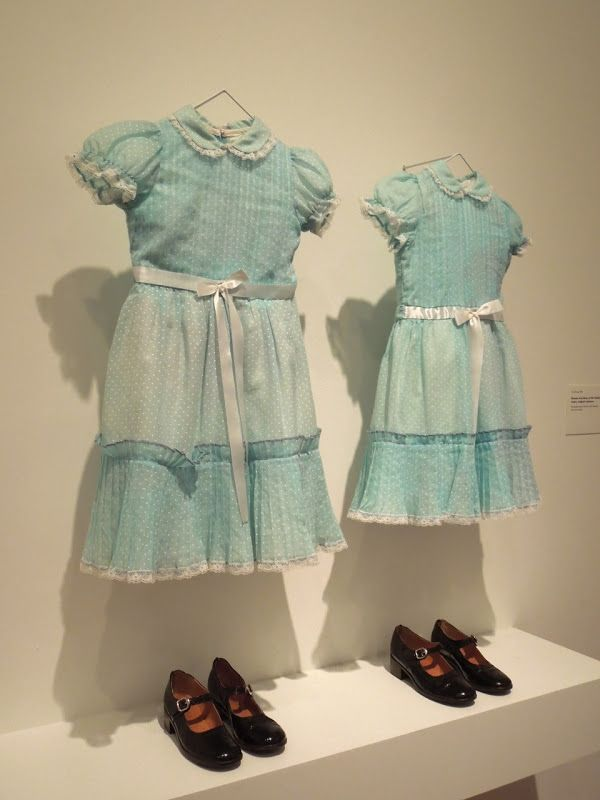 costumes from The Shining in museum exhibit... ummm my twins ARE doing this!!!! maybe when they're older..