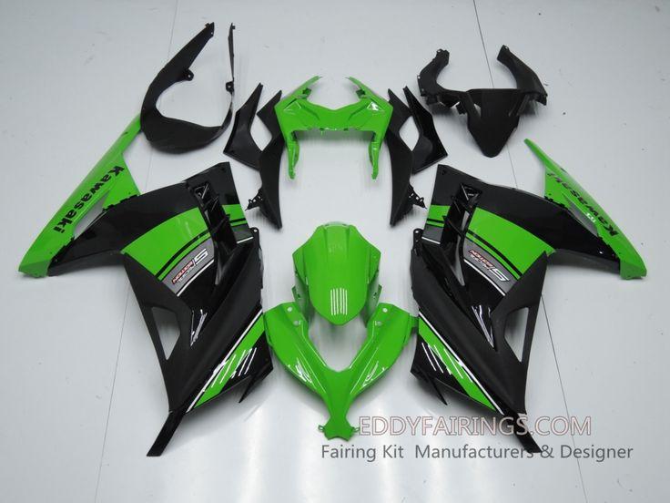 2013-Present Kawasaki Ninja 300 OEM Green Motorcycle Fairing Kit www.eddyfairings.com