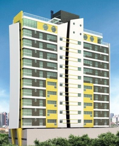Fachada Edifício Central Place em frente à Praça Oswaldo Cruz, próximo ao Shopping Curitiba.