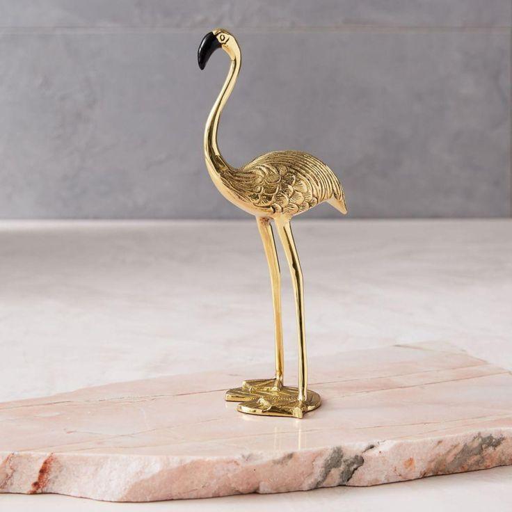 Brass Flamingo Object