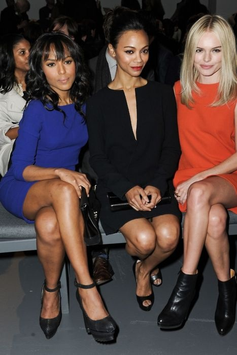 Kerry Washington, Zoe Saldana, and Kate Bosworth. Front row