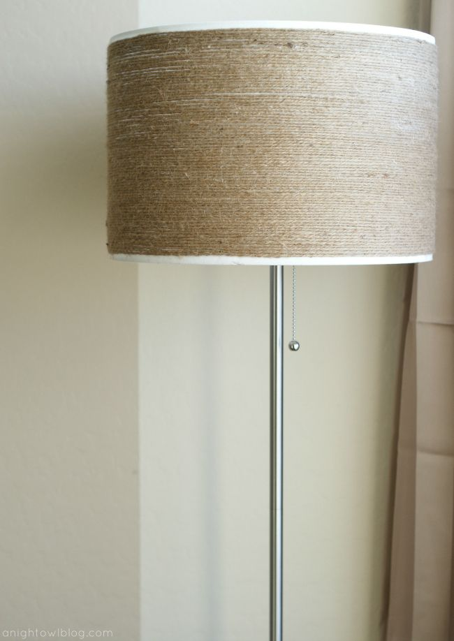 DIY:: Twine-Wrapped Lampshade