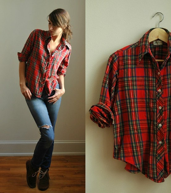 43 best how to dress like lola williams from lol images on for Womens christmas flannel shirt