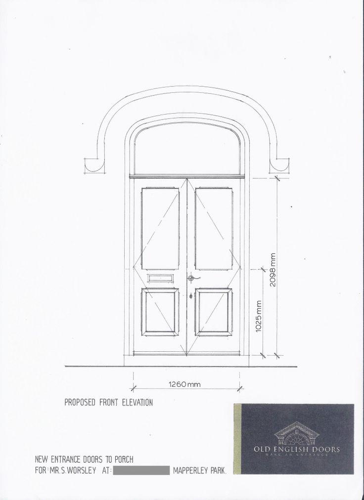 Front Door Drawing 13 best scaled drawings of doors images on pinterest | door design