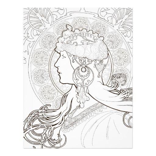 1000 Images About Art Nouveau On Pinterest Coloring