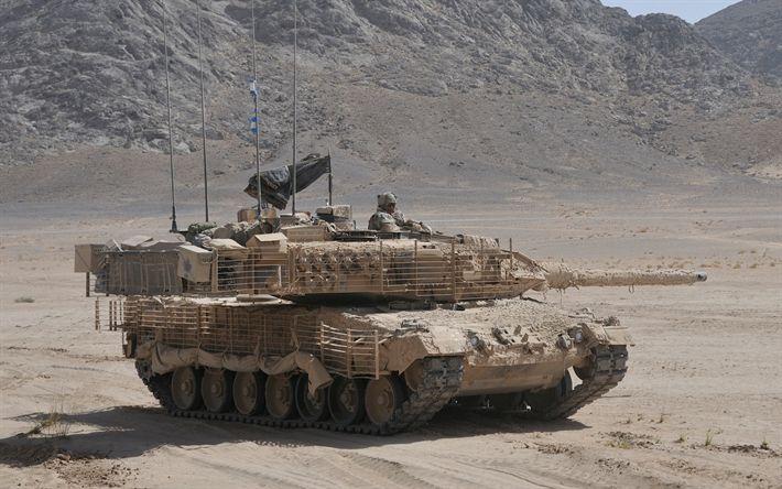 Descargar fondos de pantalla Leopardo 2A6M, alemán principal tanque de batalla, el Ejército alemán, modernos vehículos blindados, tanques alemanes