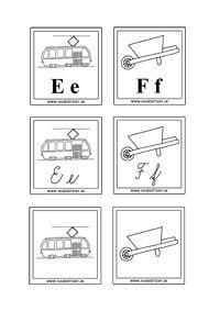 Kartičky s písmenkami a obrázkami - Aktivity pre deti, pracovné listy, online…