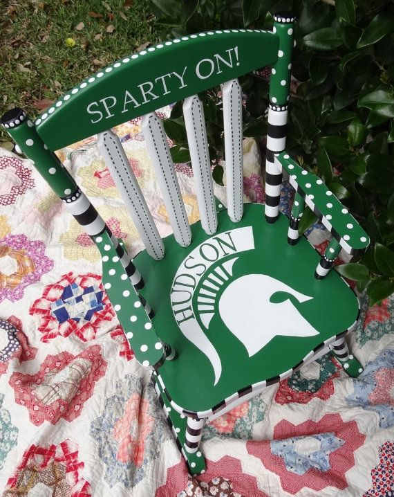 Sparty on!    For your little football fan! I can do any school, professional team, football, baseball...any sport! I can add pink toany teams colors