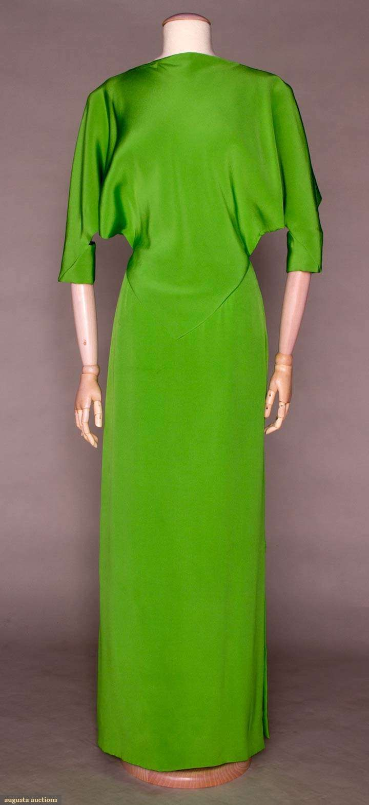Augusta Auctions: gres spring green evening gown, 1972----why is it the designer's revive everything but GLAMOUR ?????