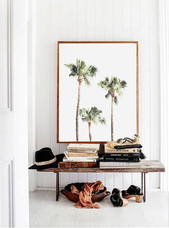 Beach Print Palm Tree Print Nature Print Tropical Wall Art