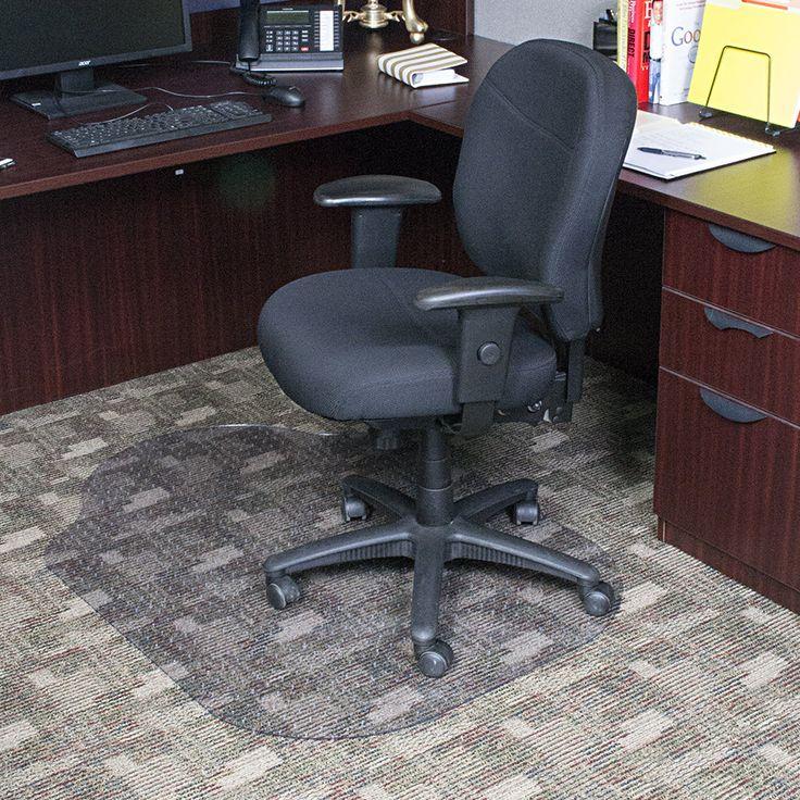 Evolve Modern Office Low and Medium Pile Carpet Beveled Edge Chair Mat