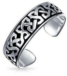 Bling Jewelry Celtic Knot Mid Finger Ring 925 Silver Adjustable Toe Rings.