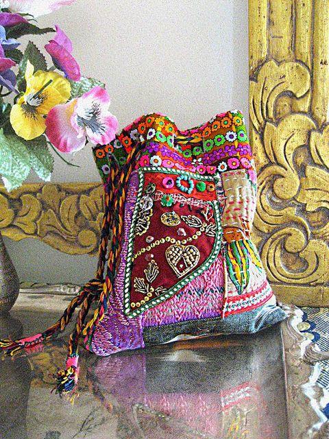 Bohemian handbag.