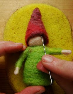 How to make a needle felted gnome; tutorial by Fiona Duthie.