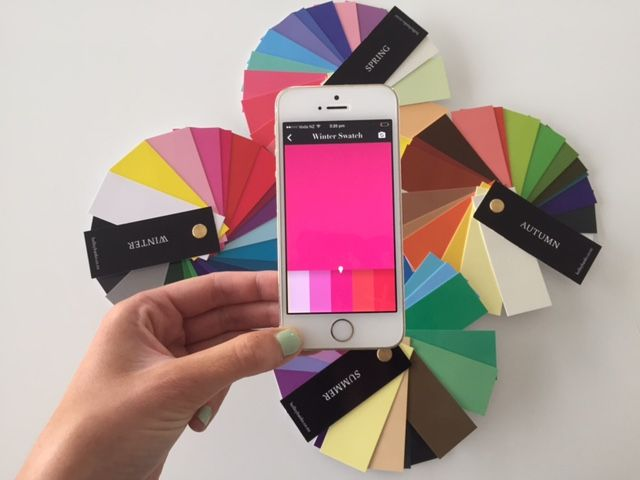 Traditional colour swatches are now digital !  Take your seasonal swatch with you everywhere! The best personal shopping tool.  Download here: https://itunes.apple.com/us/app/personal-colour-swatch/id921404340?mt=8