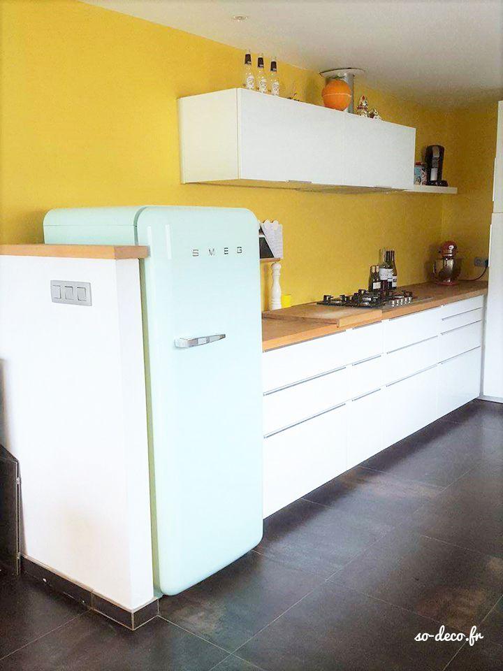 Les 25 meilleures id es concernant murs de la cuisine for Interieur frigo smeg