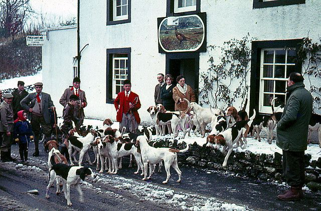 Boxing Day Hunt at the Pheasant Inn Keswick , 1962