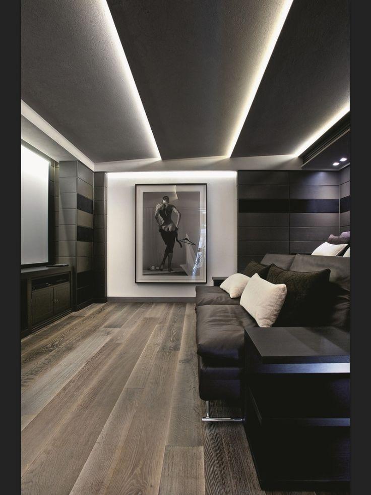 Modern-Bertie Room Ceiling wih LED strip Lights