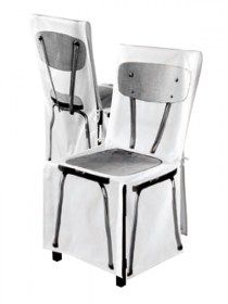Coprisedia 4mek Pliante in 100% cotone, France Coprisedia in 100% cotone biologico. Decoro stampato digitalmente su tutti i lati della sedia. Rivestimento con fiocchetti di chiusura sul retro sedia. Colore bianco e nero. Lavabile a 40°C in lavatrice. Made in France Dimensioni della sedia da coprire: -Seduta: 44x35xH46cm -Schienale da terra:H86x 44cm larghezza