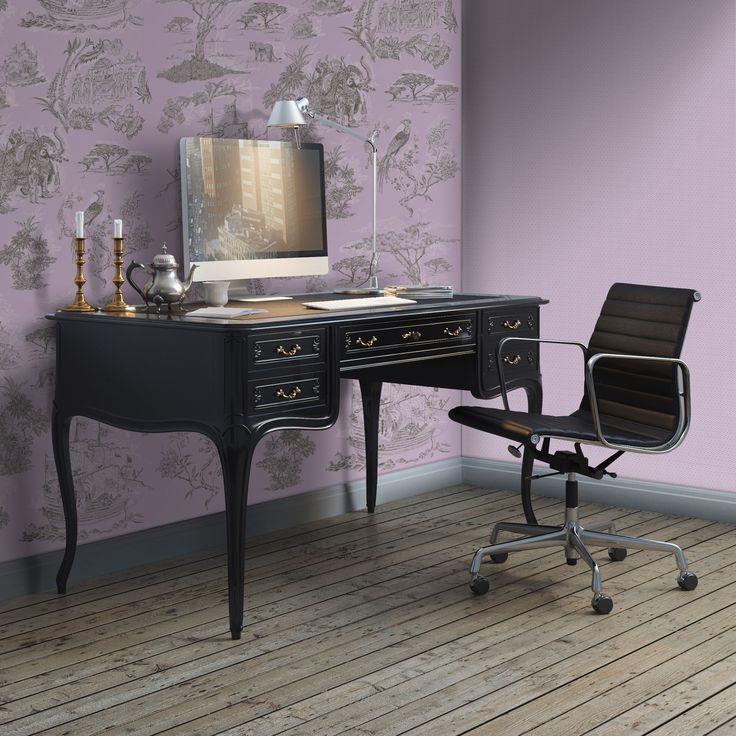 Toile Cinzento e Lavanda / Toile Base Lavanda (Toile Grey and Lavender / Toile Base Lavender)