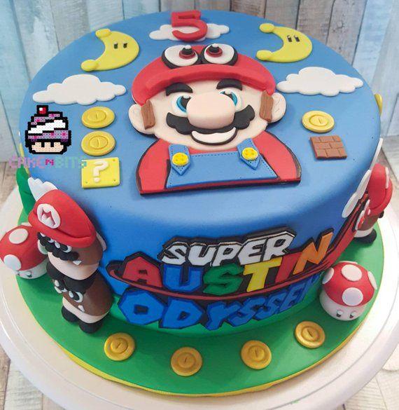 Surprising Handmade Fondant Inspired By The Super Mario Odyssey Game Birthday Funny Birthday Cards Online Fluifree Goldxyz