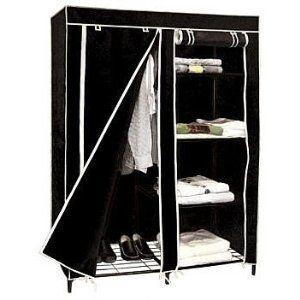 Black Portable Closet Armoire