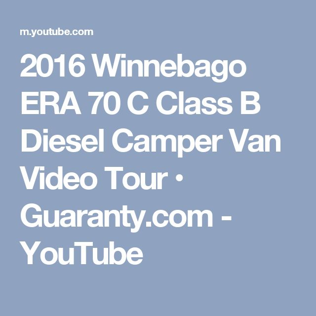 2016 Winnebago ERA 70 C Class B Diesel Camper Van Video Tour O Guaranty