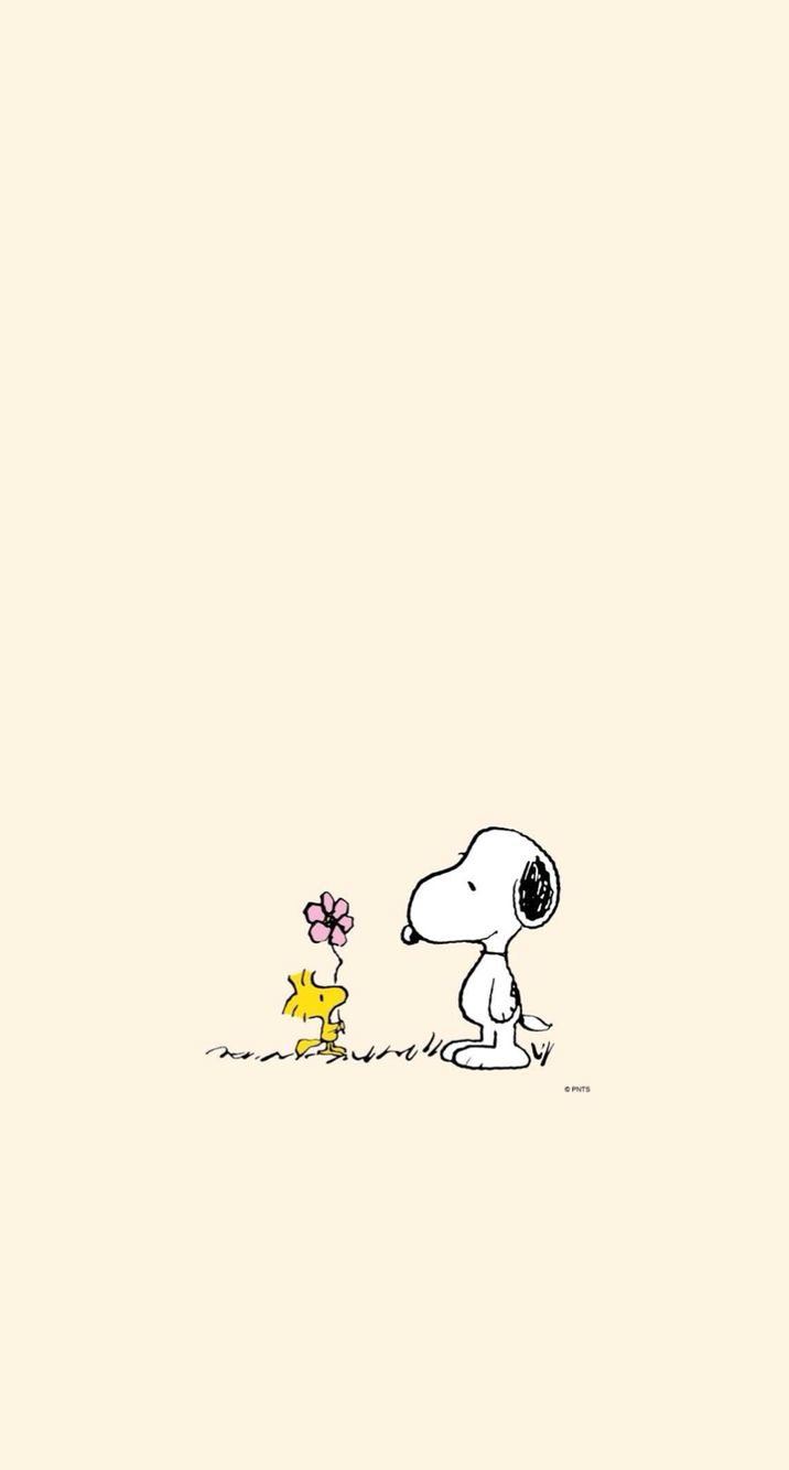 Wallpaper. Snoopy and Woodstock