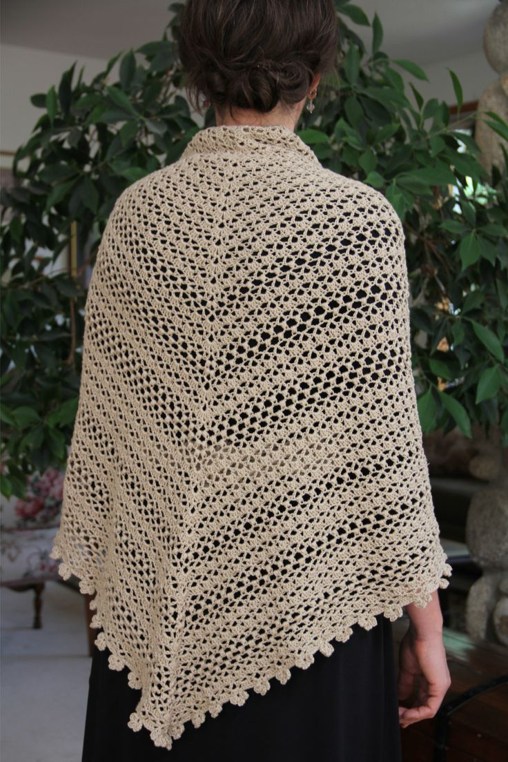 111 best chal crochet images on pinterest ponchos ideas and alipyper crocheted oatmeal puff shawl free pattern back bankloansurffo Image collections