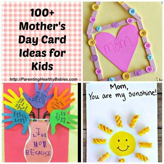 Mothers day craft ideas for kids toddler fun activity for Mothers day cards from preschoolers