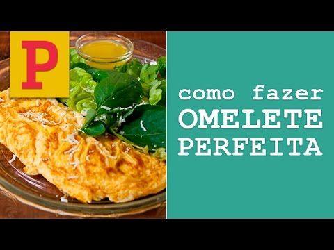 """Seja em uma versão light ou com presunto e queijo, a omelete é sempre uma opção fácil de fazer e versátil de prato. A chef Rita Lobo, criadora do site e livro """"Panelinha"""", ensina como preparar uma omelete clássica perfeita. Leia também Ovo ajuda a emagrecer e deixa de ser tratado como vilão Omelete com rúcu"""