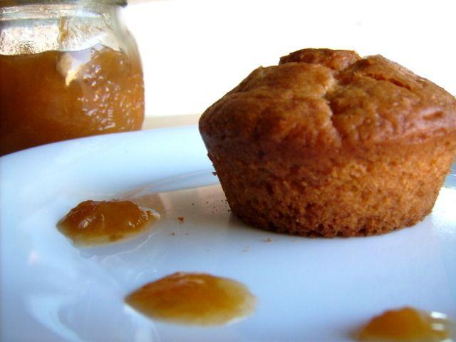Muffins alla confettura di albicocca
