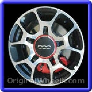 Fiat 500 2012 Wheels & Rims Hollander #61663B  #Fiat #500 #Fiat500 #2012 #Wheels #Rims #Stock #Factory #Original #OEM #OE #Steel #Alloy #Used