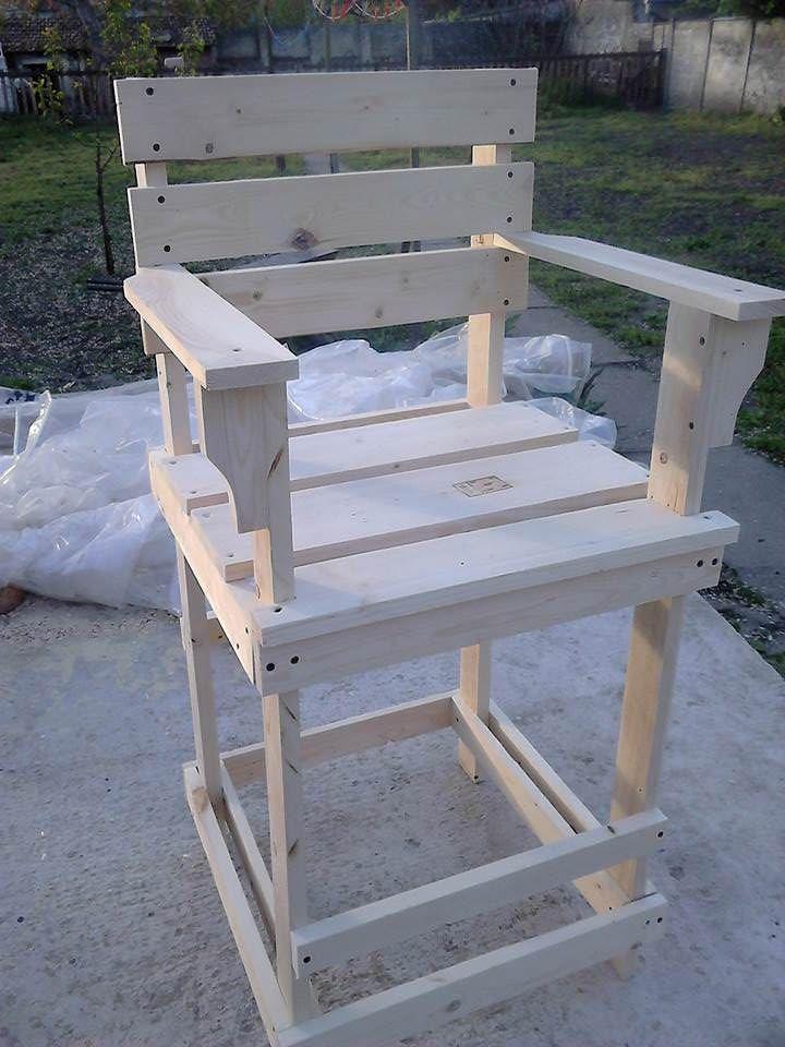 Pallet Bar Stool / Tall Bar Chair