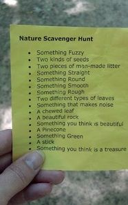 Nature Scavenger Hunt for when we are camping with kids