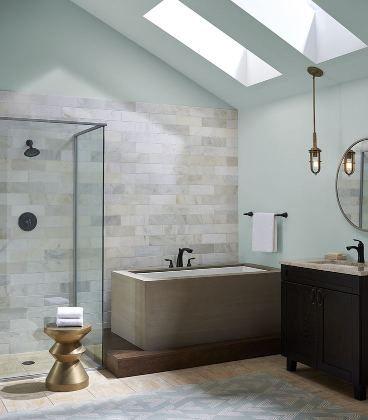 Image Of A Beautiful Alternative For Lighting In The Bathroom