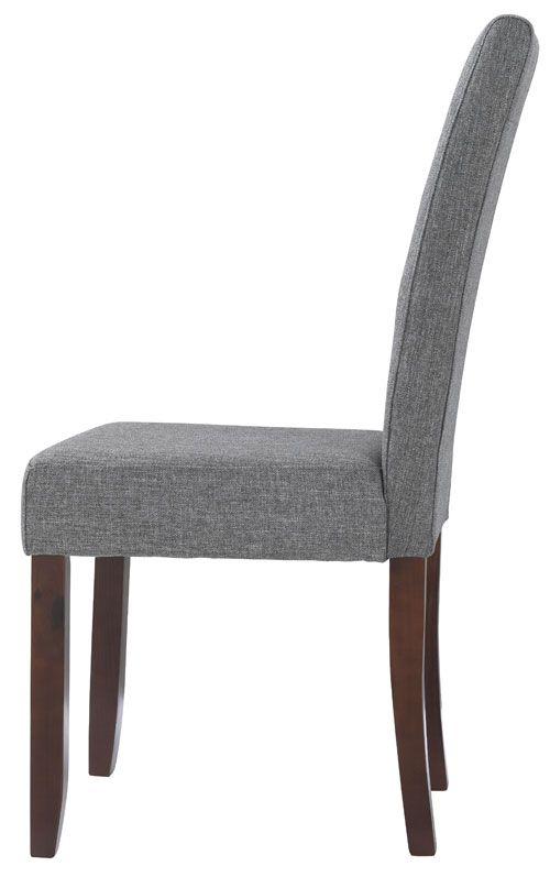 Silla tapizada en tela modelo Rossa en color gris Precio: 39€. Cómprala en nuestra tienda online --> http://www.mueblesbonitos.com/silla-comedor-rossa-gris.html