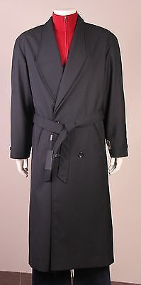 Topcoat Overcoat Trench coat double breasted mens Wool Blend